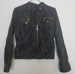 Faux leather jacket by New Look